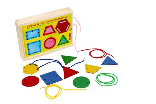 Alinhavo de Caixa - Formas Geométricas