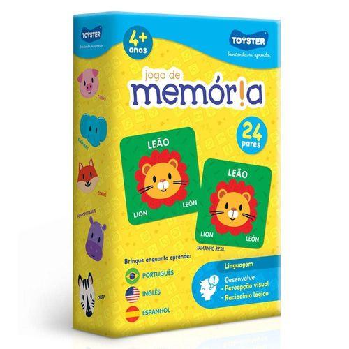 Jogo da memória em inglês, português e espanhol