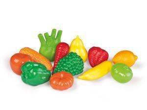 Frutas e verduras em plástico