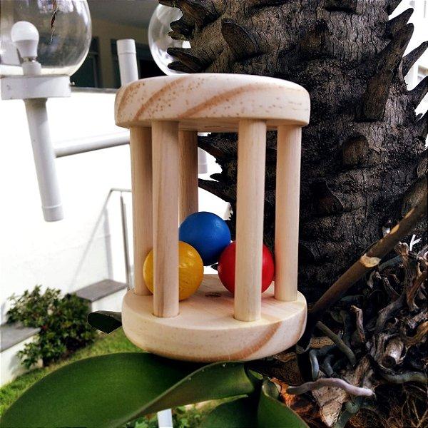 Chocalho Montessori de Bolinhas Coloridas