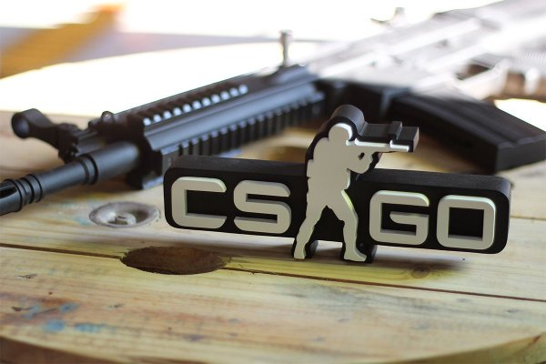 PLACA DECORATIVA - CS:GO (preto)