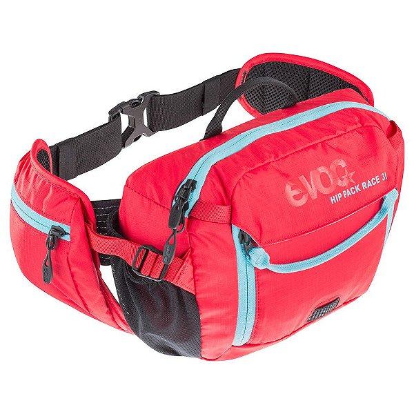 Hip Pack Race 3 Litros + Bolsa de Hidratação 1,5 Litros Vermelho