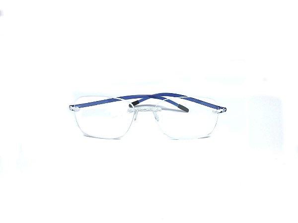Armação ÓCULOS DE GRAU Marca: SWISSFLEX Material: NYLON Modelo: SFC46/12 Cor: Azul  Tamanho:57x19 Haste:145