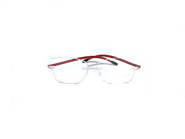 Armação ÓCULOS DE GRAU Marca: SWISSFLEX Material: NYLON Modelo: SFC22/10 Cor: Vermelho  Tamanho:55x19 Haste:146