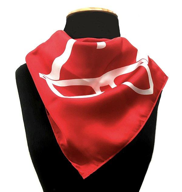 LENÇO DE PESCOÇO ou DE CABEÇA Modelo: STRACCIATTA cor Vermelho