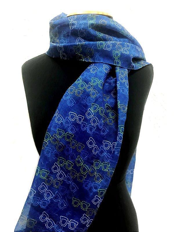 ECHARPE Modelo: ARANDELA 2 cor Azul