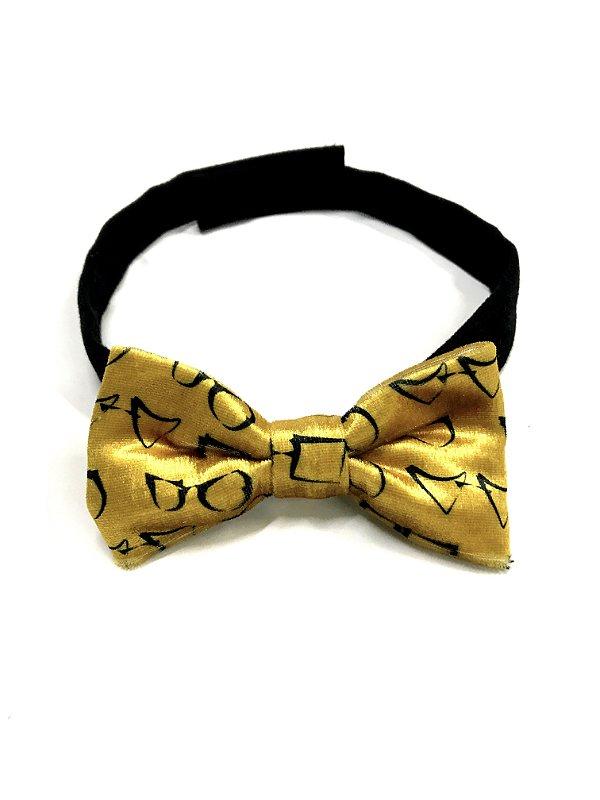 GRAVATA BORBOLETA PAPILLON Modelo: SANT cor Amarelo