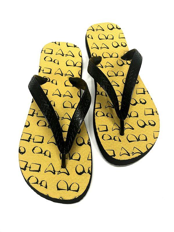 CHINELO BORRACHA POLIGNANAS Modelo: Sant cor Amarelo, Unissex