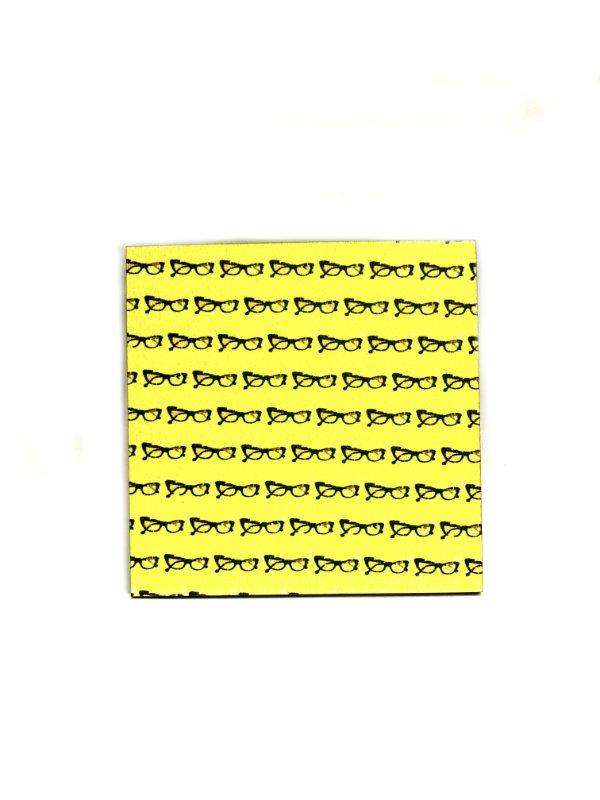 PORTA COPOS_Kit com 06 unids. Modelo: ESSE GATO cor Amarelo
