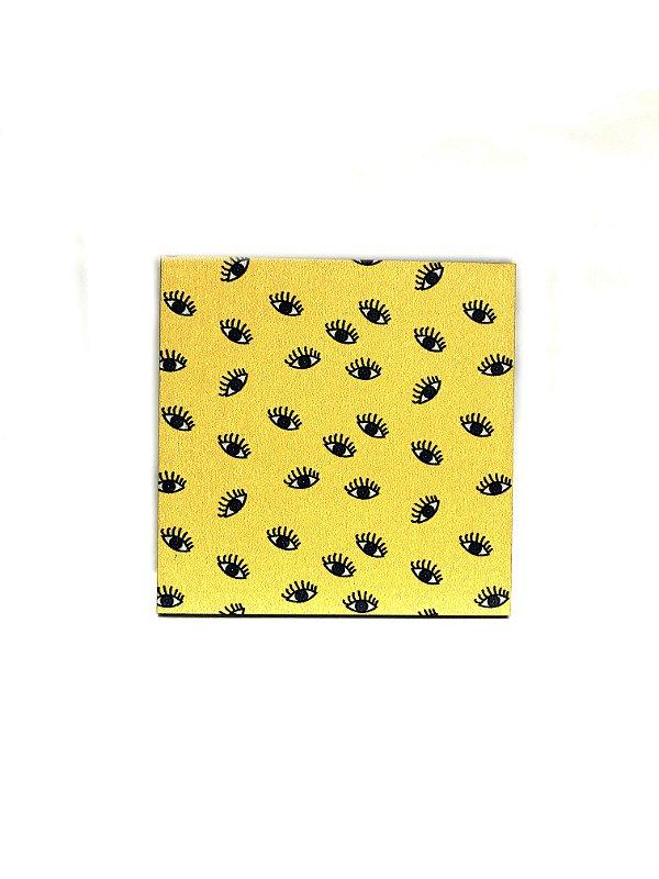 PORTA COPOS_Kit com 06 unids. Modelo: OLHO VIVO cor Amarelo
