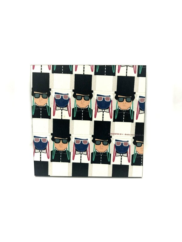 PORTA COPOS_Kit com 06 unids. Modelo: USDRA BLACK TIE cor Preto