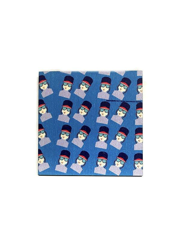 PORTA COPOS_Kit com 06 unids. Modelo: USDRA MENINO cor Azul