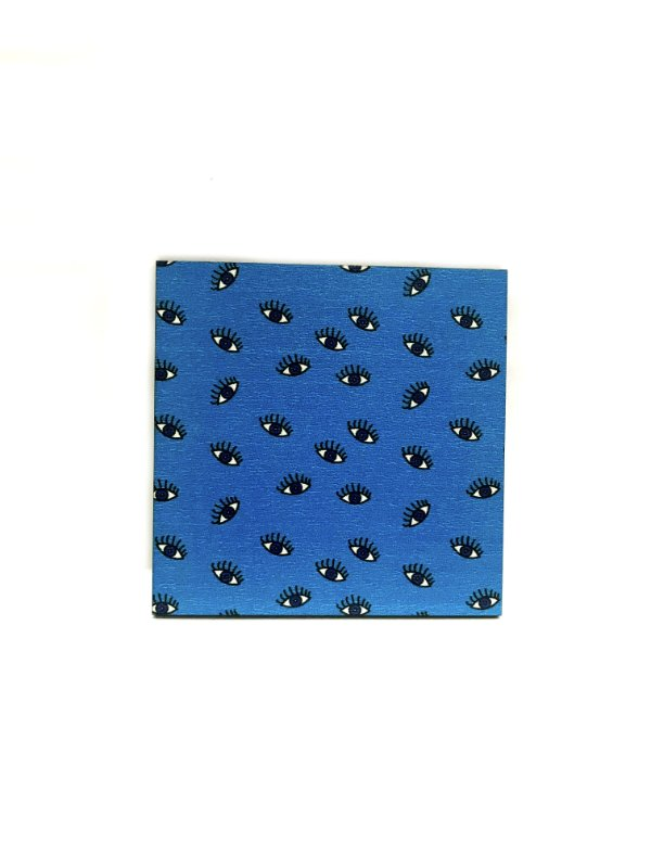 PORTA COPOS_Kit com 06 unids. Modelo: OLHO VIVO cor Azul