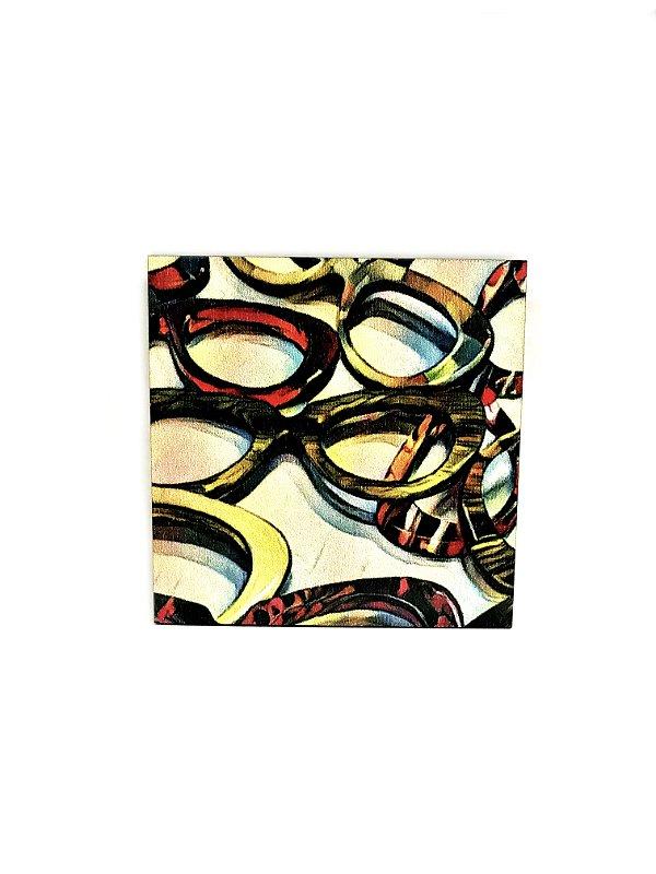 PORTA COPOS_Kit com 06 unids. Modelo: PINGE VINTAGE cor Bege Velho