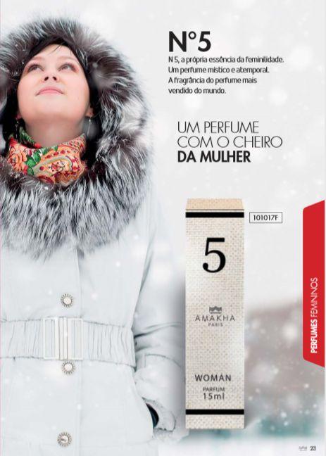 bd64f4c3d 5 WOMAN 15ml (Inspiração N'5 Chanel Paris) - Paris cosmético Mundial