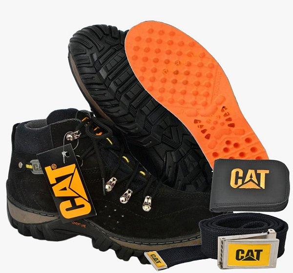 a797e37d01 Oxford · Caterpillar · Acessorios · Carteiras · Botina · Coturno. Bota  Catérpillar Cano Curto Adventure Oferta Kit CAT Preta