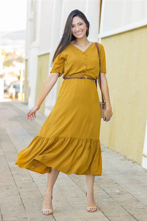 Vestido Mostarda
