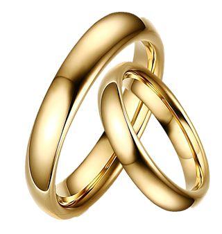 Par de Alianças  - 3 Camadas de Ouro 18k