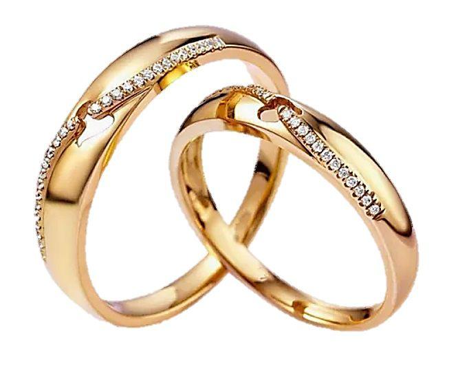 Par de Alianças Oleandro - Ouro 18k