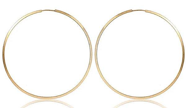 Brincos 2.3cm Redondo - Ouro 18k