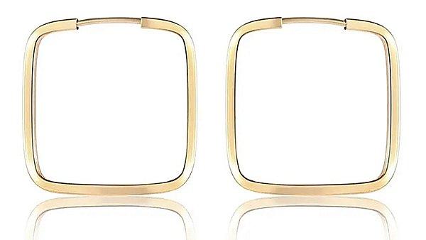 Brincos 1.9cm Quadrado - Ouro 18k
