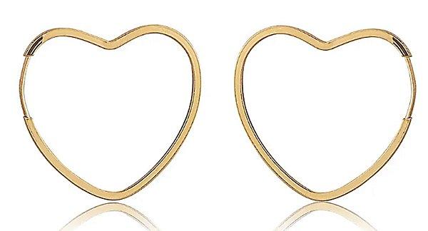 Brincos 1.6cm Coração - Ouro 18k