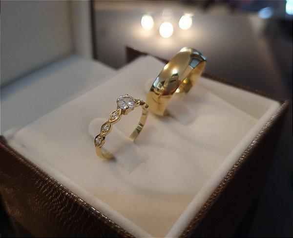 Kit Noivado - Ouro 18k