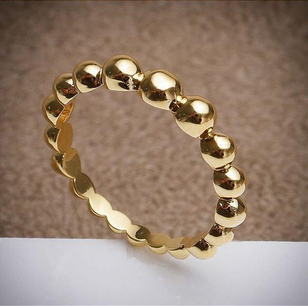 Anel Stile - 3 Camadas de Ouro 18k