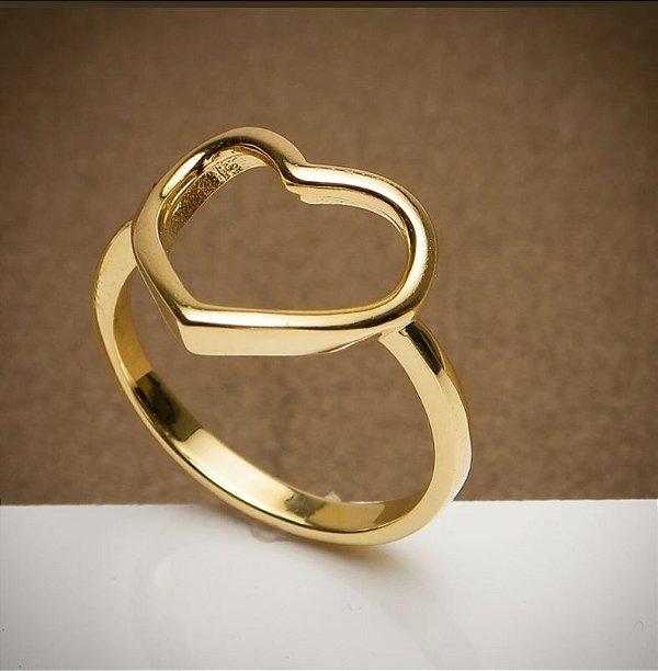 Anel Coração - 3 Camadas de Ouro 18k