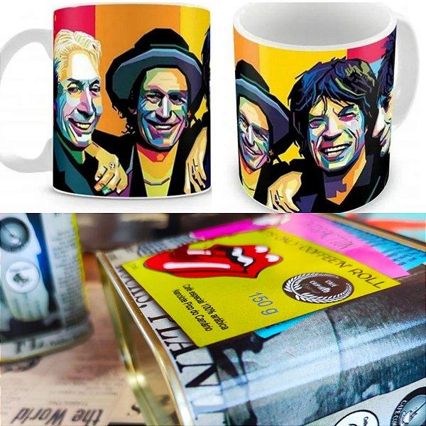 Latinha Rolling Stones 150g + Caneca Rolling Stones