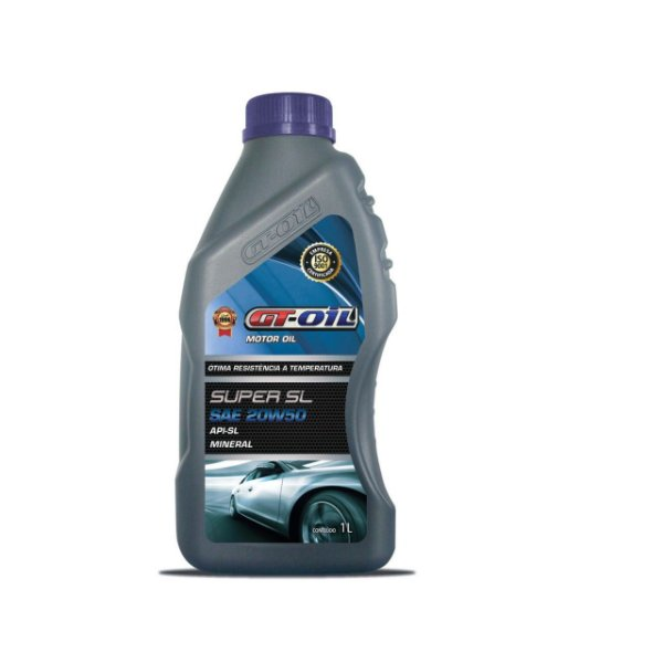 ÓLEO DE MOTOR GT OIL MINERAL SUPER SL 20W50 1L