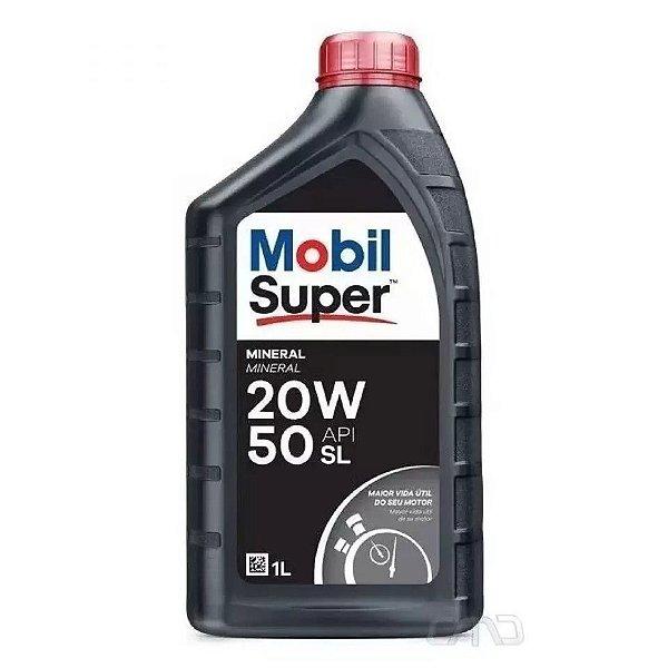 ÓLEO DO MOTOR - MOBIL - MINERAL - SUPER ORIGINAL 20W-50 - API SL - CADA (UNIDADE)