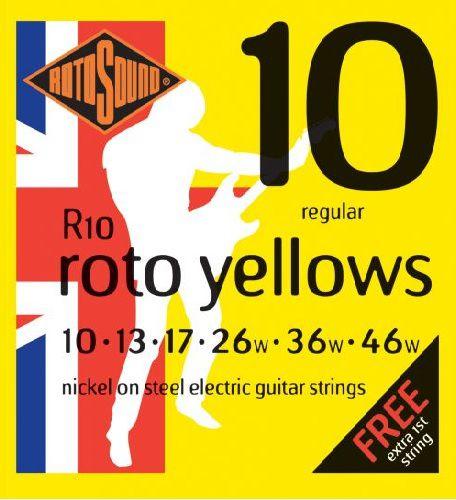 Encordoamento para guitarra Rotosound  Yellow Nickel 0,10