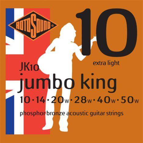 Encordoamento para violão Rotosound Jumbo King 0,10 JK10