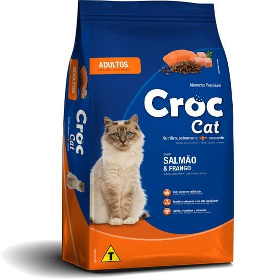 Ração Croc Cat Adulto Salmão e Frango Premium