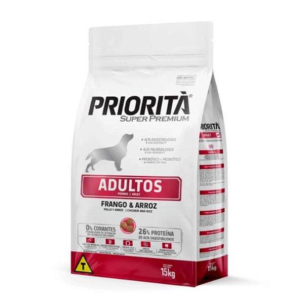 Ração Priorità Adultos Frango e Arroz Super Premium
