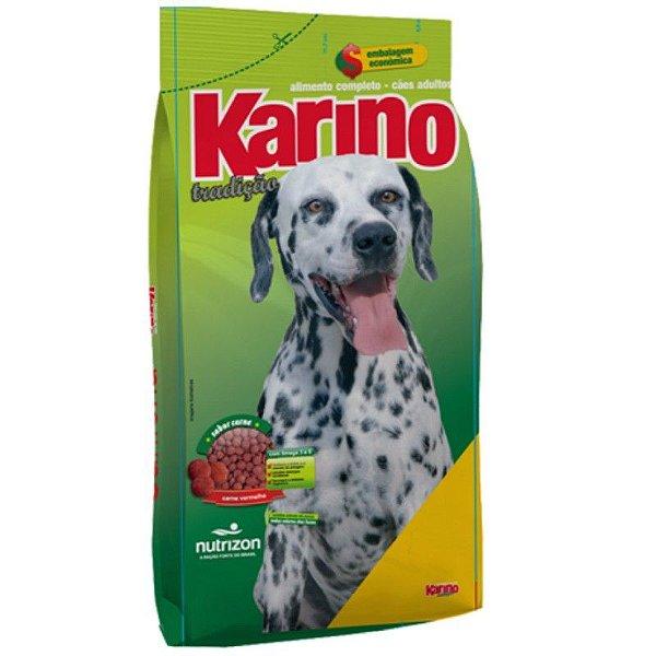 Ração Karino Cães Tradição Sabor Carne Vermelha