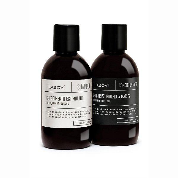 Shampoo Crescimento Estimulado + Condicionador Anti-Frizz, Brilho e Maciez