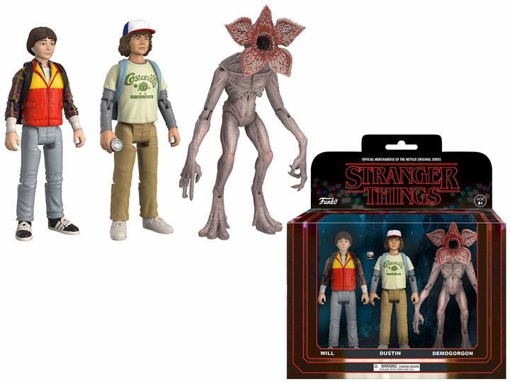 Funko Action Figure Stranger Things: Will, Dustin e Demogorgon