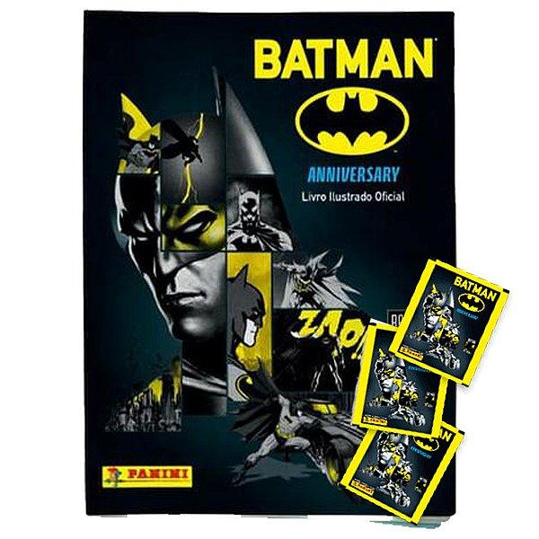 Batman Anniversary : Livro Ilustrado Capa Cartão + 12 envelopes