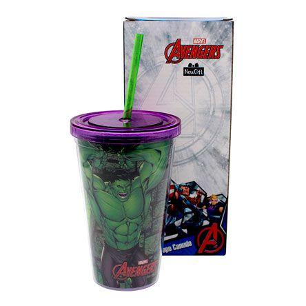 Copo com Canudo : Hulk