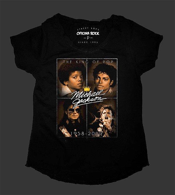 Camiseta - Bata Feminina - Michael Jackson - Autograph