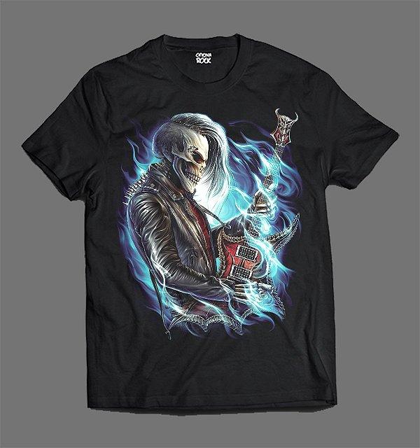 Camiseta - Skull Guitar