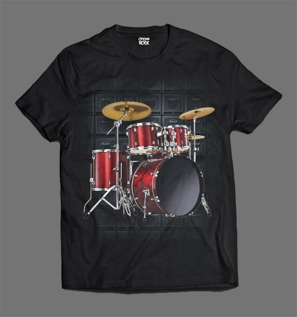 Camiseta - Bateria & Amp