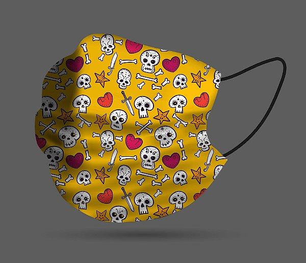 Máscara de Proteção - Caveira Love