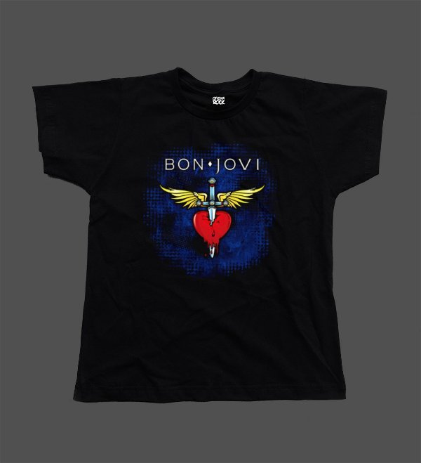 Camiseta - Babylook - Bon Jovi - Blue