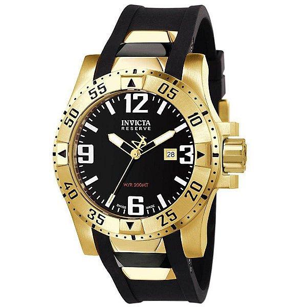 Relógio Masculino Invicta 6255 Reserve Banhado Ouro 18K