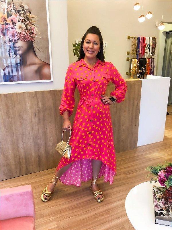 Vestido Mullet Poá Pink