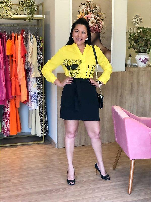 Camisa Tigre Amarela