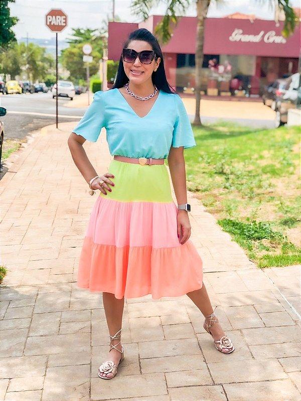 Vestido Color Block Vanessa